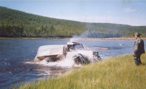 Преодоление водной преграды на вездеходе
